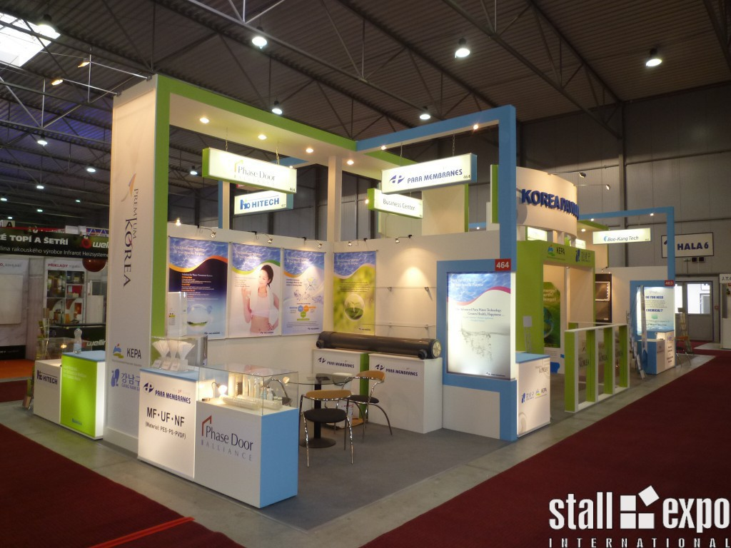 Exhibition Stall Reference : Group stand pavilion stall expo